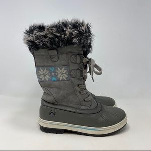 Northside Kids Gray Winter Boots Size 4